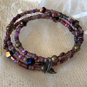 Jewelry - Labradorite-like beaded bracelet 😍